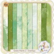 Green Paints 2 - Overlays - by PapierStudio Silke