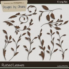 Rusted Leaves - EXCLUSIVE Designs by Ohana