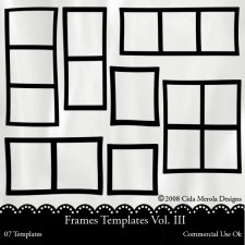 Frames Templates Vol.III by Cida Merola