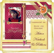 Action - Notebook & Ribbons by Rose.li