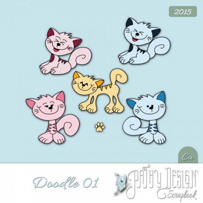 Doodles Kitty Cats Pathy Design