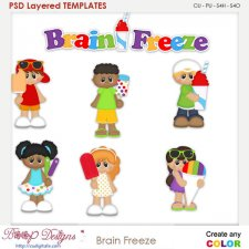 Brain Freeze Layered Element Templates