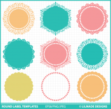 Round label templates round tag templates Lilmade Designs