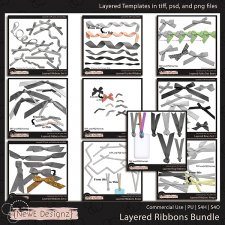 EXCLUSIVE Layered Ribbons Bundle by NewE Designz