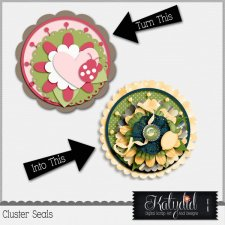 Cluster Seals Layered Templates Pack No 4