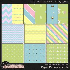 EXCLUSIVE Layered Paper Patterns Templates Set 14 by NewE Designz
