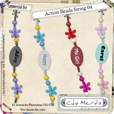 Beads String 04 Action by Cida Merola