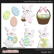 EXCLUSIVE Layered Easter Templates Set 1 by NewE Designz