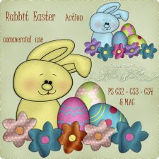 Action - Rabbit Easter II by Rose.li