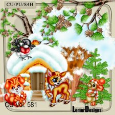 CU Vol 581 Winter Animals by Lemur Designs