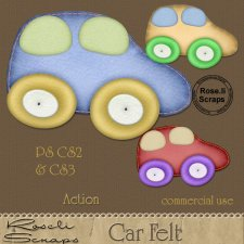 Action - Car Felt by Rose.li