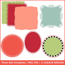 Photo mats templates frames templates Lilmade Designs