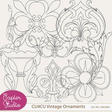 Vintage Ornament CU4CU by PapierStudio Silke