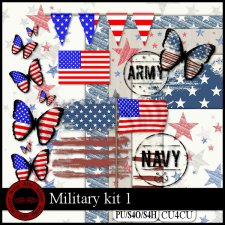EXCLUSIVE Military 1 kit CU4CU by Happy Scrap Art