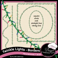 Twinkle Lights - Frame Borders ACTION by Boop Designs