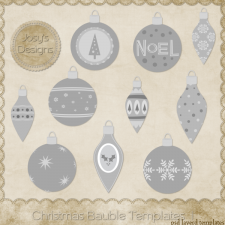 Christmas Bauble Layered Templates 1 by Josy