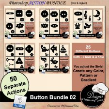 Button BUNDLE 02 ACTION by Boop Designs