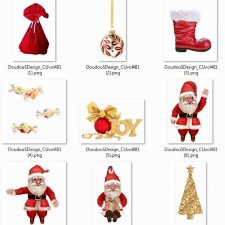 Vol. 481 Christmas Santa Mix by Doudou Design