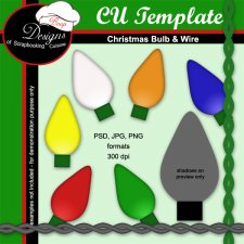 Bulb & Wire - TEMPLATES by Boop Designs