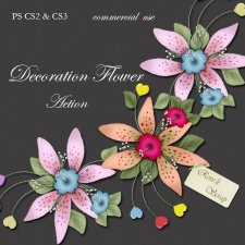Action - Decoration Flower by Rose.li