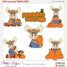 Parker Moose at the Pumpkin Patch Layered Element Templates