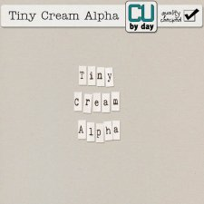 Tiny Cream Alphabet - CUbyDay EXCLUSIVE