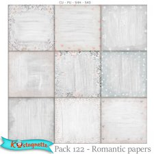 Pack 122 romantic papers