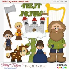 Fee Fi Fo Fum Nursery Rhyme Layered Element Templates