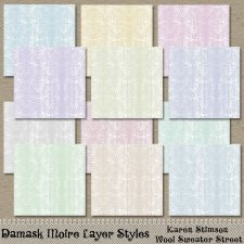 Damask Moire Layer Styles by Karen Stimson