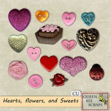 Heart Flowers and Sweets