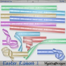 Easter Ribbons 1 by Mandog Scraps