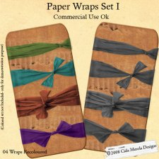 Paper Wraps Set I by Cida Merola