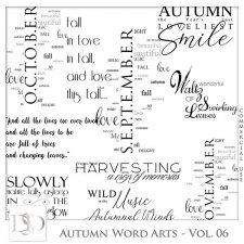 Autumn Word Arts Vol 06 by D's Design