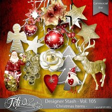 Designer Stash Vol 105 Christmas Items - by Feli Designs