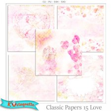 Classic Papers 15 Love by Kastagnette