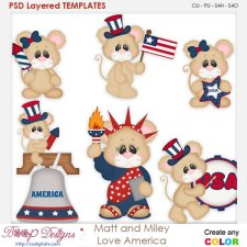 Matt and Miley Love America Layered Element Templates