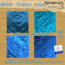 Water Texture Papers Action by Mandog Scraps