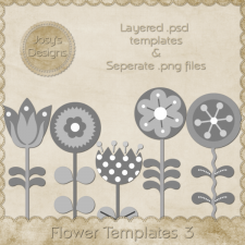 Flower Layered Templates 3 by Josy