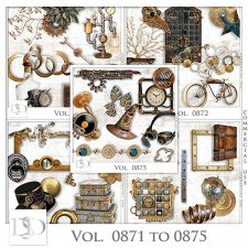 Vol. 0871 to 0875 Steampunk Mix by D's Design