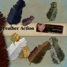 Feather Action by Monica Larsen