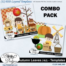 Autumn Leaves BUNDLE COMBO TEMPLATES