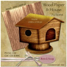 Action - Wood Paper & House by Rose.li
