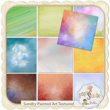 Sundry Painted Art Textured EXCLUSIVE by PapierStudio Silke
