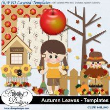 Autumn Leaves TEMPLATES set 1