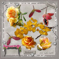 vol 127 Yellow Roses Elements EXCLUSIVE bymurielle