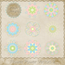 Flower Power Layered Vector Templates 2 by Josy