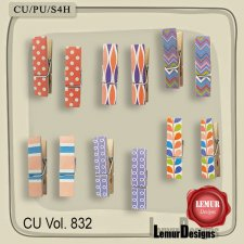 CU Vol 832 Wooden clips by Lemur Designs