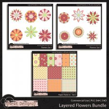 EXCLUSIVE Layered Flower Templates BUNDLE by NewE Designz