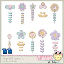 Template Flowers 02 by Pathy Design