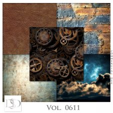 Vol. 0611 Steampunk Papers by D's Design
